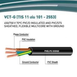 Phelps Dodge สายไฟ THW - 60227 IEC 01